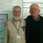 Bill Croft (left) and Chris Knight at the Tenth Annual EVOLANG conference, Vienna 2014. Photo: Luc Steels.